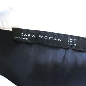 ZARA Dresses - ZARA Black Lace Dress w/White Collar and Cuffs/M
